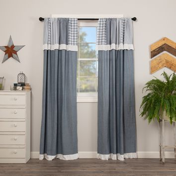 Sawyer Mill Blue Patchwork Panel Curtains