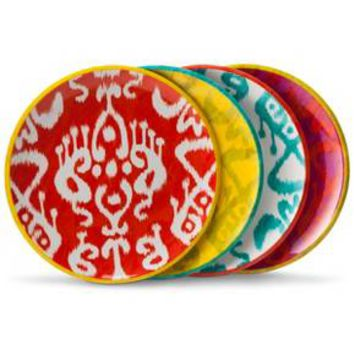 Mudhut™ Ikat Melamine Salad Plate Set of 4