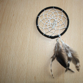 Black trim dream catcher with natural by dreampeacepositivity