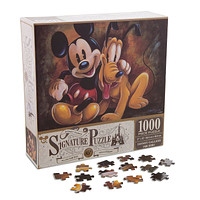 disney parks mickey & pluto 85th anniversary puzzle 1000 pcs new with box
