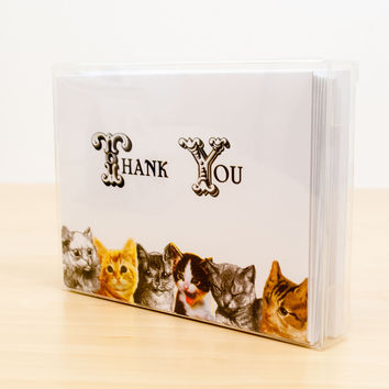 Thank You Cats Greeting Card Box Set of 12