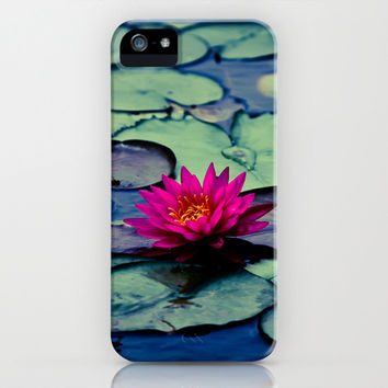 Twilight at the Lily Pond iPhone & iPod Case by Ann B.