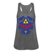 Much Needed Merch | Hylian Shield Womens Flowy Tank Top S-XL | Online Store Powered by Storenvy