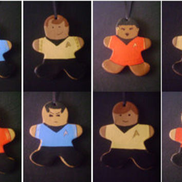 Starship Gingerprise boxed set of 8 ornaments