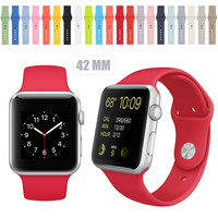 Standard Length Silicone Watch Band Strap For Apple Watch Band Silicone Straps Watchbands 38MM &42MM