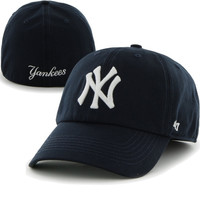 New York Yankees '47 Brand Game Franchise Fitted Hat – Navy Blue
