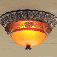 Pine Cone Glow Ceiling Fixture