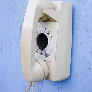 Vintage Wall Phone Upcycled into a Bird House  by EcoCycled