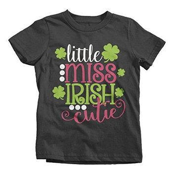 Shirts By Sarah Girl's Little Miss Irish Cutie T-Shirt ST. Patrick's Day