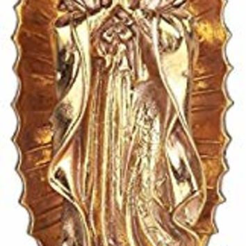 """Simmer Stone 11.8"""" Our Lady of Guadalupe Resin Statue, Virgin Mary Figurine, Holy Religious Home and Garden Decor, Gold"""