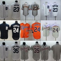 Detroit Tigers Jersey Blank #23 Kirk Gibson #24 Miguel Cabrera #35 Justin Verlander Men's 100% Stitched Embroidery Logos Baseball Jerseys