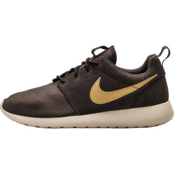 Nike Roshe Run Suede - Velvet Brown Metallic Gold Sand 2414c4501a98