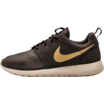 Nike Roshe Run Suede - Velvet Brown/Metallic Gold/Sand