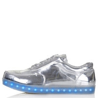 TRANCE Light Up Trainers by Topshop X Glow - Silver