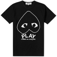 Comme des Garcons Play Inverted Heart Logo Tee