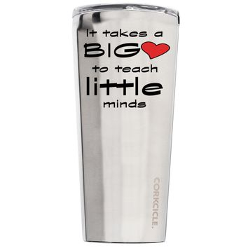 Corkcicle It Takes a Big Heart to Teach 24 oz Tumbler Cup
