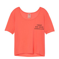 Sleep Scoop Neck Crop Tee - PINK - Victoria's Secret
