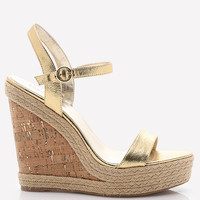 CLAIREE CORK WEDGES