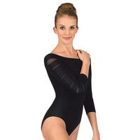 Adult Slash Boat Neck 3/4 Sleeve Leotard