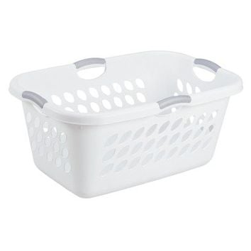 Sterilite White Medium Rectangular Basket