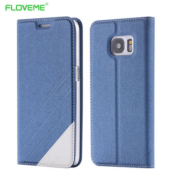 FLOVEME Case For Samsung Galaxy S7 Edge S7 S6 Edge Luxury Leather Card Slot Stand Flip Cover For Samsung S7 Edge Accessories