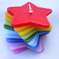 Handmade, Rainbow Stacking Candle. Jasmine scented.