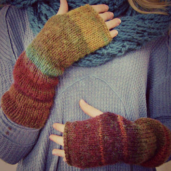 Fingerless Gloves, Boho, Arm Warmers, Texting Gloves, Boho Chic, Gift Idea, Women's Accessories, Slouch