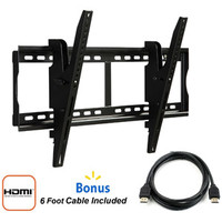 "Walmart: @.com Tilting Wall Mount for 37"" to 70"" Flat Panel TVs, Black with HDMI Cable"