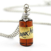 Drink Me Bottle Necklace