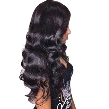 Cool 360 Lace Frontal Wig Remy Brazilian Natural Black Body Wave Human Hair Wigs For Women Pre Plucked With Baby Hair 360 full laceAT_93_12