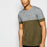 ASOS | ASOS Knitted Tshirt in Color Block at ASOS
