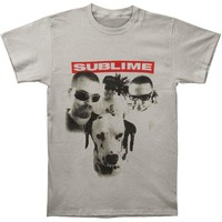 Sublime Men's  Group Photo W/ Dog Slim Fit T-shirt Grey