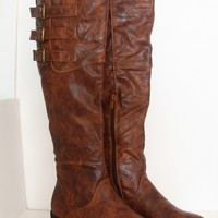 Low Heel Causal Dress Knee High Round Toe Motorcycle Riding Boot  Size 5.5 - 10