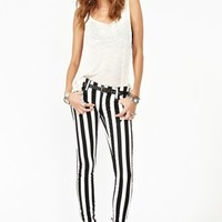 Tripp NYC Striped Skinny Jeans