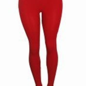 Women long legging tights    (RED)