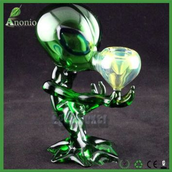 Green Alien Glass Pipe