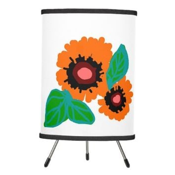 fun lamp with tropical flower style