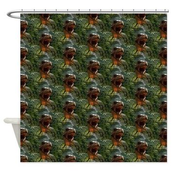jurassic dinosaur Shower Curtain