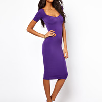 Oh My Love   Oh My Love Midi Dress with Square Neck at ASOS