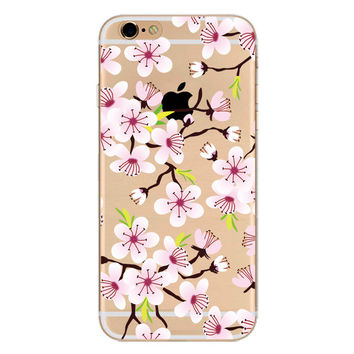 Cherry Blossom Phone Case + Screen Protector For iPhone 7 7Plus 6 6s Plus 5 5s SE
