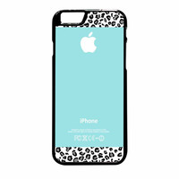 Tiffany Teal And Black Leopard iPhone 6 Plus Case