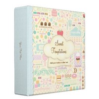 Sweet Temptations Bakery Boutique Binder from Zazzle.com