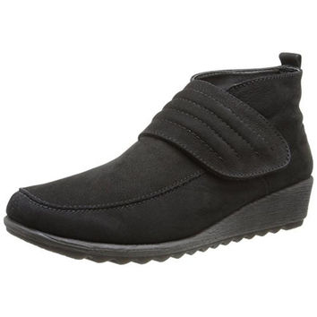 The Flexx Womens Run A Lot Suede Wedge Chukka Boots