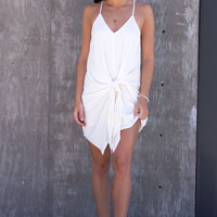 Ellis Tie Dress - White
