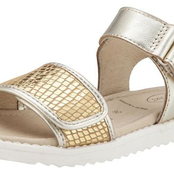 Old Soles Girl's Gold Snake Tish Leather Sandals