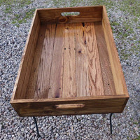 Reclaimed Wooden Serving Tray With Early American Finish