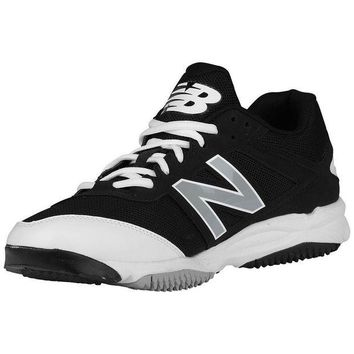 DCCK1IN new balance t4040v3 turf synthetic nubuck shoes black white
