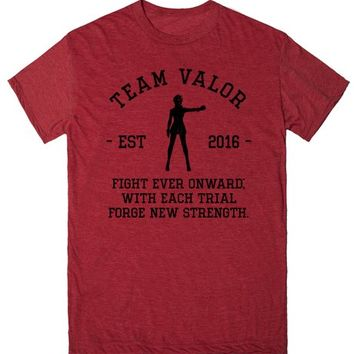Team Valor Motto Pokemon Go Athletic Shirt