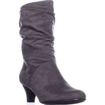 Aerosoles Wise N Shine Mid-Calf Slouch Boots, Grey, 9 US