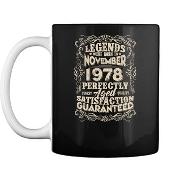 Vintage November 1978 Legend Tshirt Funny 40th Birthday Gift Mug